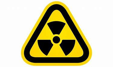 radon warning image in yellow