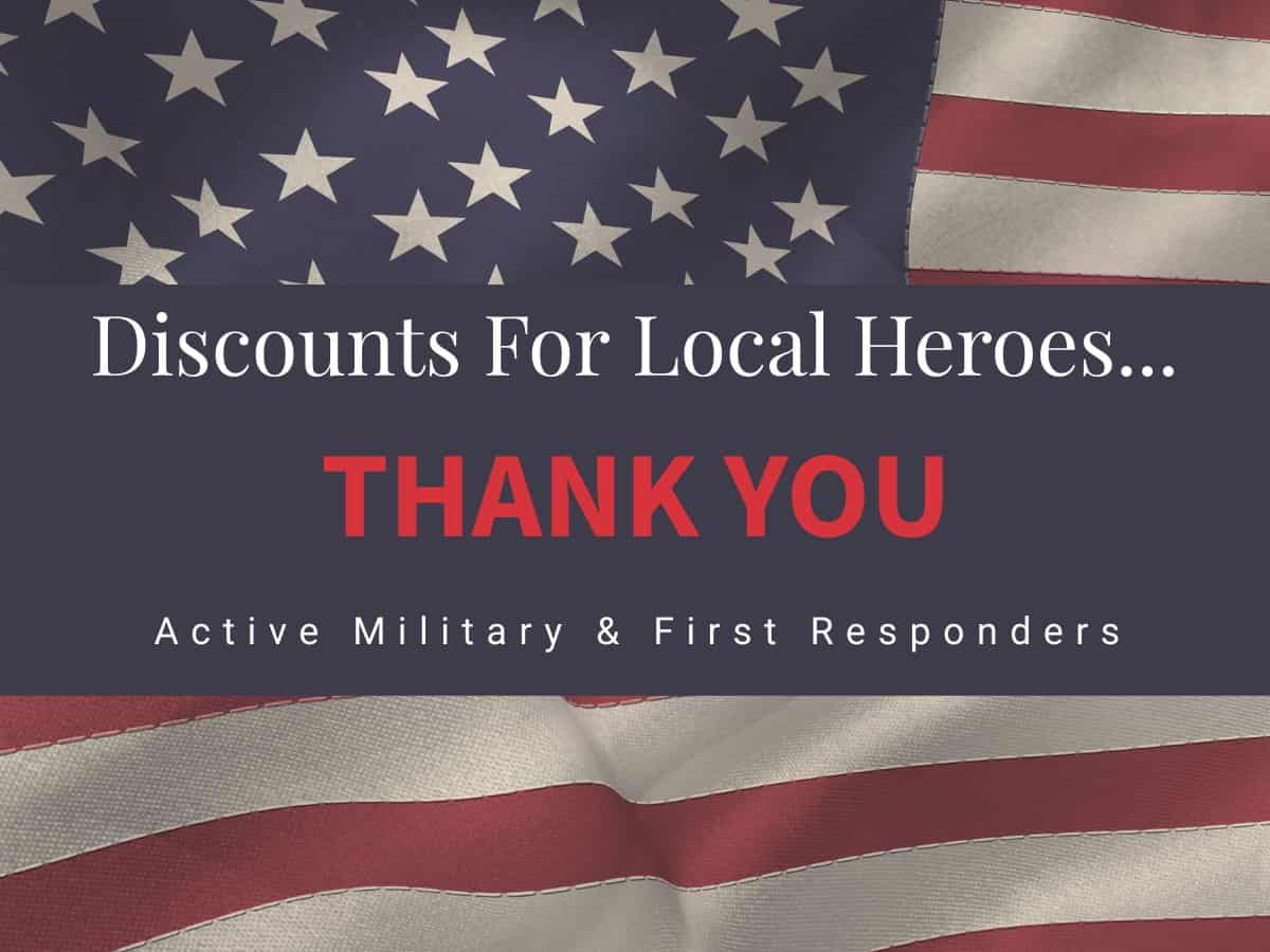 american flag and local hero discount message for lighthouse property inspections